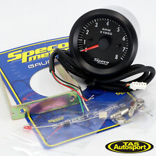 "Speco Meter 2"" Tachometer Gauge 8000 RPM Black 52mm 523-20"