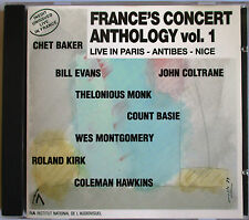 "COUNT BASIE, BILL EVANS, JOHN COLTRANE, CHET BAKER, JAZZ CD ""LIVE IN FRANCE"""
