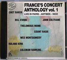 """COUNT BASIE, BILL EVANS, JOHN COLTRANE, CHET BAKER, JAZZ CD """"LIVE IN FRANCE"""""""