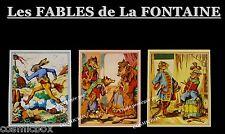 Magnet Les FABLES de La FONTAINE lot 3 aimants animaux le lièvre et la tortue