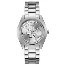 Guess Watch G Twist W1082L1 Polished Silver Case With Classic Guess Logo