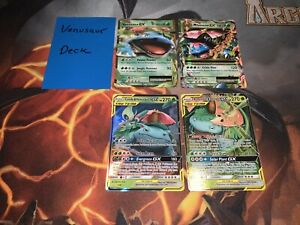 Pokemon Complete Deck - Venusaur - M Venusaur EX, Venusaur & Snivy Celebi GX