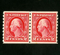 US Stamps # 413 XF Pair OG VLH Scott Value $125.00