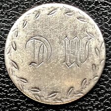 """Love Token on 1853 Seated Liberty Dime 10c """"D W or M C"""" #20333"""