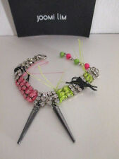 JOOMI LIM Let them Eat Cake Fringe Crystal Spike Bracelet NWOT $250 Multi Color
