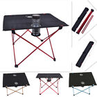 Ultralight Portable Aluminum Folding Table with Cup Holder Camping Garden Picnic