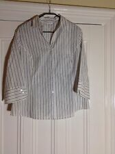 BNWOT - sz 20 Beige/cream striped tailored poly cotton shirt/top/blouse