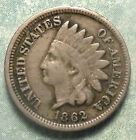 1862 Indian Head Penny F FINE Civil War MOST LIBERTY Copper-Nickel  More >STORE  for sale