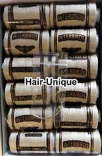 HAIR EXTENSIONS WEAVE / WEFT THREAD x 12 & Free C Needle BLONDE Free Post