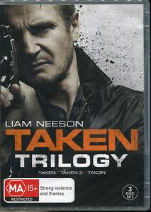Taken Trilogy 3-movie DVD NEW Region 4 Liam Neeson
