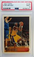 1996 96 TOPPS Kobe Bryant ROOKIE RC #138, Graded PSA 9 Mint, Los Angeles Lakers