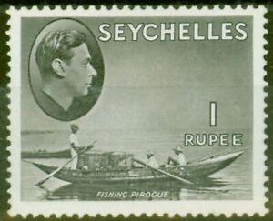Seychelles 1938 1R Grey-Black SG146a Fine Mtd Mint