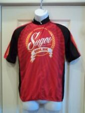 Sugoi Beer Short Sleeve Cycling Jersey Mens Size Medium 3/4 Zipp Red