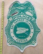 BAY HARBOR ISLANDS FLORIDA POLICE COP CAR DOOR DECAL SHIELD FL *