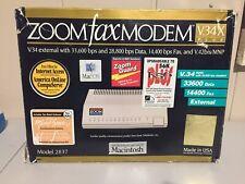 Zoom Fax Modem V.34X Plus External Modem Model: 2837 Mac OS Rockwell *Work*