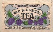 Wild Blackberry Tea - 25 Bags - Decorative Wooden Box