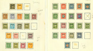 *A coll of mint & used w diff Provinces, some stuck on paper, minor toning