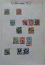 Danemark, collection de timbres anciens sur feuilles.