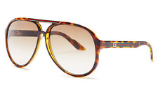 GUCCI Aviator Sunglasses GG 1627/S Tortoise Havana Brown Gradient D28R6