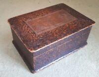 Antique Chinese Wooden keepsake  Box 14.5 x 10.5 x 6 cms