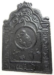 gusseiserne Platte OFENPLATTE TAKENPLATTE VOGEL FRÜCHTE 62 cm x 42 cm 16 kg