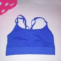 Victoria Secret PINK Bralette Small Blue Sports Bra Ultimate Solid Strappy