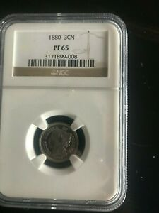 1880 3CN NGC Proof 65 FREE SHIPPING US ONLY