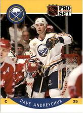 1990-91 PRO SET HOCKEY DAVE ANDREYCHUK CORRECTED BACK PHOTO CARD #17 NMT/MT-MINT