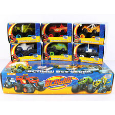 6xBlaze&the Monster Machine Truck Racing Car Diecast Nicklodeon Toy Gift Boxed