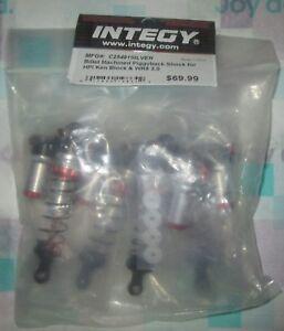 C25491SILVER Integy Billet Machined Piggyback Shocks for HPI Ken Block WR8 3.0