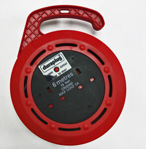 Duraplug 6m 2 Socket Drum Extension Lead 5a Max Load With Safety Cutout