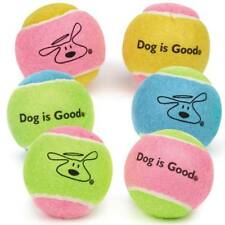 """Classic Dog Tennis Balls 6 Pack Set Pastel Colorful Chew Throw Fetch Toys 2.5"""""""