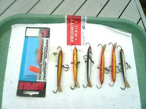 LOT OF 7 RAPALA ICE FISHING <JIGGING> MINNOWS ONE MINT IN PACK, 6 ARE LARGER