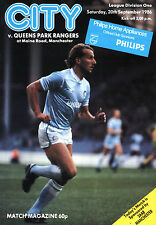 1986/87 Manchester City v Queens Park Rangers, Division 1, PERFECT CONDITION