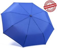 "Kolumbo Travel Umbrella - Blue - Proven ""Unbreakable"" Windproof Tested to 55mph"