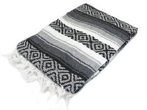 "Premium Mexican Heavy Falsa XL Blanket Yoga 78"" x 52"""