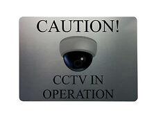 CAUTION! CCTV IN OPERATION Health & Safety Metal Aluminium Signs Door Plaques