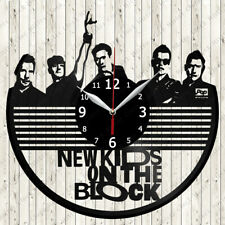 New Kids on The Block Vinyl Record Wall Clock Decor Handmade 7179