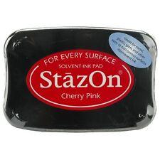 StazOn Solvent Ink Pad CHERRY PINK SZ-81 Tsukineko Brand NEW! Sealed