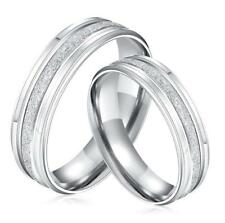 Men Women Matte Stainless Steel Wedding Ring Band Anniversary Gift Size J1/2-y Women's 7