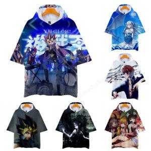 Duel Monsters Yu-Gi-Oh! Yugi Muto Kaiba Seto Short Sleeve Hoodie Shirt T-Shirt
