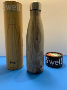 S'well Vacuum Insulated Stainless Steel Water Bottle, 17 oz. Handpainted Wood Ed