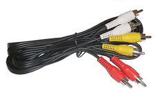 3 Way Audio/Video RCA Phono Cable 2 Metres