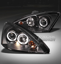 00-04 FORD FOCUS HALO PROJECTOR HEADLIGHTS LAMPS BLACK ANGEL EYES LX SE ZX3 ZX5