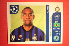 PANINI CHAMPIONS LEAGUE 2011/12 N 79 MAICON INTER WITH BLACK BACK MINT!!