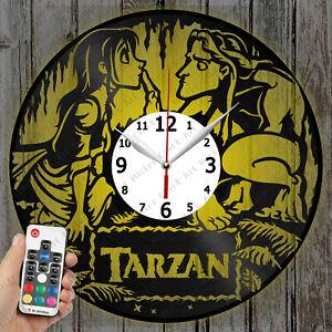 LED Clock Tarzan Vinyl Record Clock Art Decor Original Gift 4134