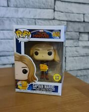 CAPTAIN MARVEL - GLOW IN THE DARK - (FUNKO POP! 444) NEW BOXED COLLECTABLE RARE.