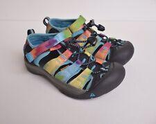 Keen Kids' Newport H2 Sport Sandal's Black Rainbow Tie Dye Size 13
