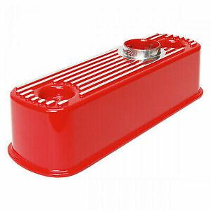Red Classic Mini Rocker Cover Aluminium Alloy 1275 A engine SLIGHT SECONDS DEAL