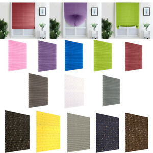 Self-Adhesive Pleated Blinds Half Blackout Bathroom Kitchen Window Curtain Shade